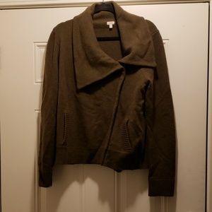 J. Crew Wool Zip Sweater